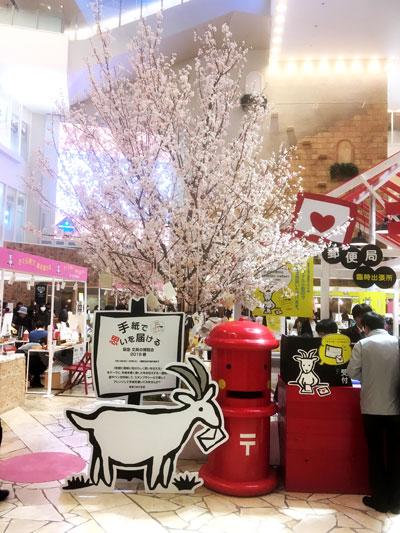 文具の博覧会_会場には大きな桜が