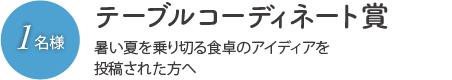テーブルコーディネート賞